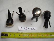 4 patins glisseur 18 mm (13 mm 7,5 mm )à insérer, pour pied tube...