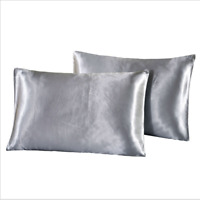 2x Pillow cases 100% Polyester Smooth silk touch Wrinkle Free Comfort Multicolor