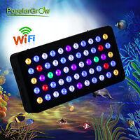 PopularGrow165W Wifi LED Aquarium Licht Full Spectrum Dimmable drei Kanäle lampe