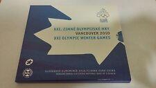 Slovakia 2010 Euro Set Vancouver Xxi Olympic Winter Games Bu