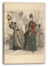 Lienzo/Marcos Jules David - Dos vestidos de mujer en el día: dibujo preparatori