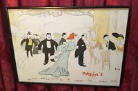 VINTAGE MAXIM'S DE PARIS RESTAURANT ADVERTISING MENU BELLE EPOQUE