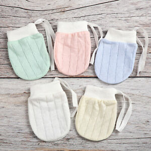 Baby BREATHABLE Soft Cotton Anti-scratch Drawstring Gloves MITTENS - MELB stock