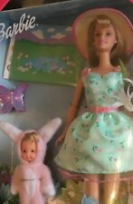 1999 Target Easter Egg Party Barbie & Kelly doll giftset NRFB