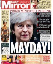 daily mirror newspaper Friday december 15 2017 teresa may MAYDAY