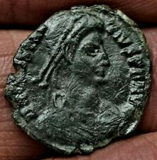CONSTANTIUS II. SPEARING FALLEN HORSEMAN  351 AD, 1.5g, 18mm, Ancient Roman Coin