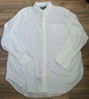 Ralph Lauren Classic Fit Stretch NonIron Shirt Size 18 34/35 Excellent Condition