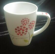 "STARBUCKS 2007 ""I Love You"" COFFEE MUG 12oz with HEART Flower Petals"