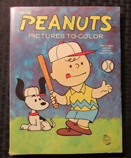 1960 PEANUTS Pictures To Color Saalfield Coloring Book GD- Charlie Brown Snoopy