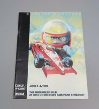 1985 Milwaukee Mile at Wisconsin State Fair Park Speedway Stock Car Race Program