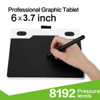 """6"""" Ultra-thin Graphic Tablet 8192 Levels Battery-Free Pen for Android/Windows BS"""