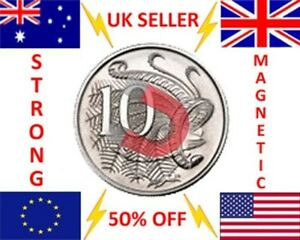 STRONG MAGNETIC 10 cent AUD AUSTRALIAN COIN MAGIC TRICK COIN