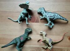 4x Small Plastic Dinosaurs with Posable Limbs - USED