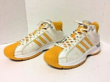 Adidas Pro Model Men's Gold & White Basketball Shoes Sneakers - Size 17