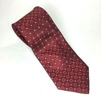 "Donald J. Trump Signature Collection Red Silk Tie 63"" White Dots"