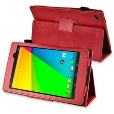 rooCASE Multi-Angle Vegan Folio Case Cover for Google Nexus 7 (RED)