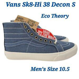 Vans Sk8-Hi 38 Decon S Eco Theory Shoe Skate Sneakers Men's Size 10.5 NEW