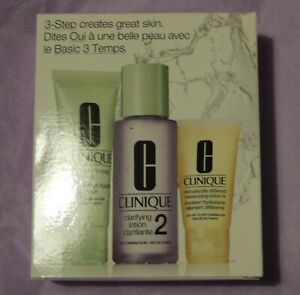 Clinique 3 Step Starter Kit Skin Type 2 + free cosmetic purse