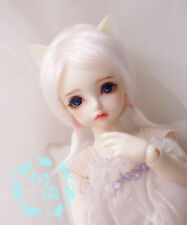 "4""-5""12cm BJD fabric fur wig water pink For AE PukiFee Bjd 1/12Doll Antiskid wig"