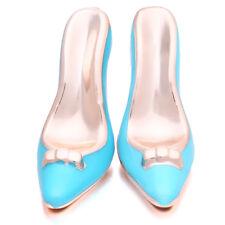 12pcs Blue Enamel Acrylic High Heel Fashion Jewelry Pendant Charms Accessories J
