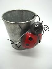 """New listing Red Lady Bug Metal Flower Pot Hanger Yard Garden Outdoor Indoor 2.5""""h x3.5""""w #35"""