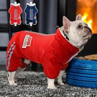Hundemantel Winter Overall Winterjacke Wasserdicht Hundekleidung Rot Mops XS-XL