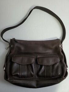 FOSSIL Medium  Brown  Leather Shoulder Hobo Tote Satchel Purse Bag