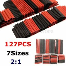 127pcs Halogen-Free 2:1 Heat Shrink Tube Sleeving Wrap Wire Cable Connection