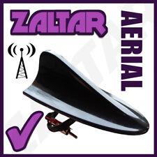 Black Auto Car Roof Aerial Radio AM/FM Signal Shark Fin Antenna Ariel Arial 12v