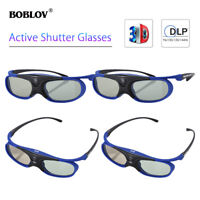 4Pcs 3D Active Shutter Glasses DLP-Link Rechargeable Blue For BenQ Sony LOCAL!