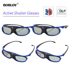4x Boblov Jx-30 Active Shutter Glasses Dlp-link Blue for BenQ OPTOMA Projector