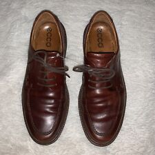 Ecco Mens Brown Dress Shock Point Shoes Size 43 US 9-9.5