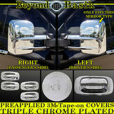 1999-2006 SILVERADO Chrome Door HandleW/O PSK+ Gas+T Mirror+ Tailgate COVERS 4DR