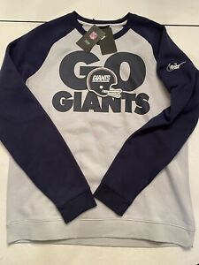 Nike New York Giants Vintage Helmet Retro Logo Crewneck NKBQ 089L NFL Football