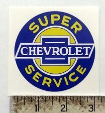 "Vintage Chevrolet Super Service sticker decal 3"" dia."