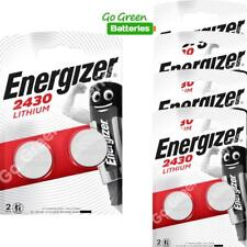 10 x Energizer CR2430 3V Lithium Coin Cell Battery EXPIRY 2029 *NEW PACKS*