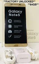 Samsung Galaxy Note5 SM-N920A - 64GB - Gold Platinum At&t ~Unlocked~ GSM 4g LTE