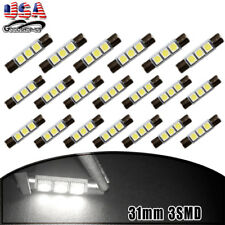 20X 30mm/31mm 5050 LED Fuse Sun Visor Vanity Mirror Light Bulbs White 6614F 6641