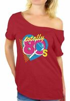 80s Shirt Off Shoulder Neon 80s Costumes Party Vintage Retro 80s Accessories