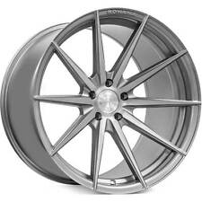 "4ea 20"" Staggered Rohana Wheels RFX1 Brushed Titanium Rims (S4)"