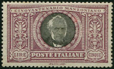 REGNO - 1923 Manzoni, 5 L. ben centrato 4/346