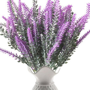 Artifical Lavender Flower Bouquet Fake Plant Home Wedding Office Decor Rose Red