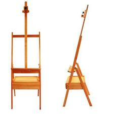 French Beech Easel Stand Wooden Sketch Box Dispaly Artist Painting Art Supply
