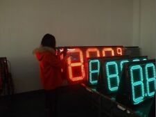 Electronic led price sign with wireless controller for gas station