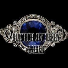 Estate Antique 1.21cts Rose Cut Diamond Sapphire Studded Stunning Ring Jewelry
