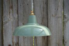 Estilo Retro Verde Gris Lámpara Colgante De Luz Colgante Sombra Lightshade techo FG1G3