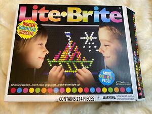Lite Brite Hasbro Retro Toy 214 Pieces Fun Game!