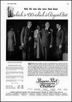 1935 Rogers Peet men's clothing new york city vintage photo Print Ad  adL42