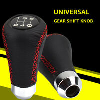 5 Speeds Universal Manual Car Shifter Leather Stitche Gear Stick Shift Knob Red