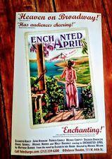 Enchanted April- Broadway Poster -RARE